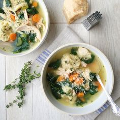 Vegetable soup gets so much better when you add cheesy, thyme-filled dumplings.  Get the recipe: Chicken Soup with Parmesan Dumplings   - Delish.com