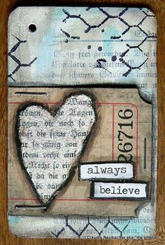 """Today I gave myself finally a push to start my 52 Card Pick Up deck. If you don't know what Card Pick Up"""" is all about take a look at . Altered Canvas, Altered Art, Art Journal Pages, Junk Journal, Art Journaling, Art Trading Cards, Collage Techniques, Atc Cards, Art Journal Inspiration"""