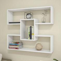 Corner Shelf Design, Bookshelf Design, Wall Shelves Design, Unique Wall Shelves, Wall Shelf Decor, Floating Shelves Diy, Bedroom Wall Designs, Bedroom Furniture Design, Diy Furniture