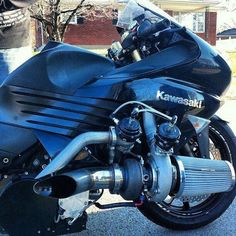 For those of us who put our bikes away for the winter, the time has come to dust them off and get ready to ride. When bringing a bike out of storage, a mini Kawasaki H2r, Kawasaki Motorcycles, Racing Motorcycles, Motorcycle Bike, Kawasaki Ninja, Custom Motorcycles, Moto Racing, Car Jokes, Custom Sport Bikes