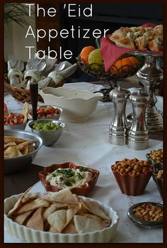 Create A Beautiful 'Eid Appetizer Table This Fall - My Halal Kitchen by Yvonne Maffei-Global Cuisine Made Halal Halal Recipes, Quick Recipes, Cooking Recipes, Iftar Party, Eid Party, Appetizers Table, Appetizer Recipes, Eid Breakfast, Breakfast Recipes