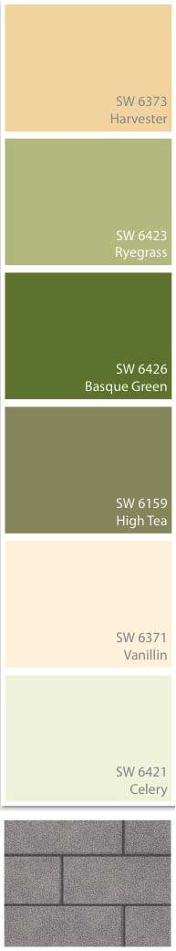 Possible new color for pump house? exterior greens...or how about harvester