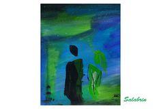 Acrylmalerei - Acrylbild abstrakt Romantische Begegnung - ein Designerstück von Salabrin bei DaWanda