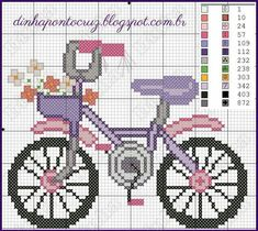Cross Stitch For Kids, Cross Stitch Cards, Cross Stitch Flowers, Cross Stitching, Loom Patterns, Beading Patterns, Embroidery Patterns, Ribbon Embroidery, Cross Stitch Embroidery
