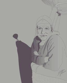Daddy ❤ on ballon ! Illustration by Krissmet