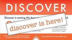 This shows how we updated out library display screens to communicate that the Discover system had become live