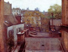 The Athenaeum - View of Roofs, Paris (Gustave Caillebotte - )