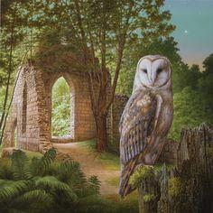 Herman Smorenburg.  Op de grens Een schilderij uit de serie 'droom roofvogels' die ik de laatste jaren heb gemaakt.
