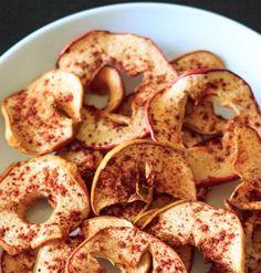 Πατατάκια μήλου με μέλι και κανέλα