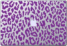 "13"" Purple Leopard Skin for Macbook, Pro and Air"