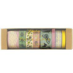 secret garden paper tapes - pack of 8