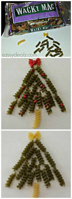 Noodle Christmas Tree Craft For Kids
