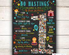 Nautical birthday chalkboard sign one year chalkboard st