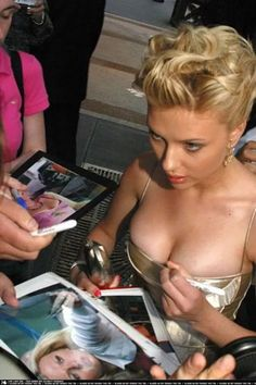 Scarlett Johansson Boobs. Because it's just what we all want to see, right? Yes it is. Is there anyone that doesn't want to see some Black Widow boobs? Seriously. Is there anyone? Because who would want to be friends with that completely insane person?Obviously,Scarlett Johansson is one of th...