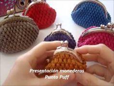 Monedero ganchillo en Punto Puff - YouTube