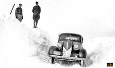 Now that's deep snow! 1936 Chevy
