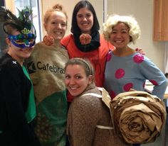 Benevon team members Laura, Megan, Molly, Ann-Li, and Michelle all dressed up for Halloween 2014.