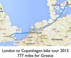 We will do the 777 miles road London to Copenhagen bike tour Reunification, Parthenon, Antwerp, British Museum, Frankfurt, Cologne, Copenhagen, Denmark, Belgium