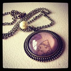 Resin Fan Necklace by MAYOULEE   Accessories