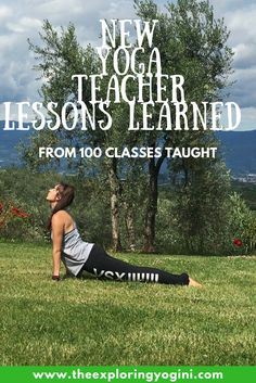 What it's really like to be a new yoga teacher & how to navigate all of the emotions of being an inexperienced yoga instructor.