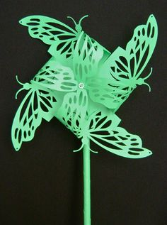 a butterfly pinwheel from How To Make Elegant Pinwheels  by divaonline at http://www.infobarrel.com