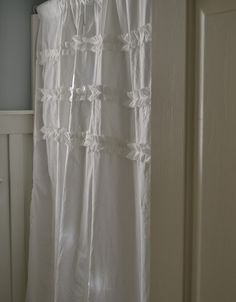 Ruffled Shower Curtain Tutorial