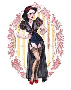 Disney Ladies Lingerie Pinups http://geekxgirls.com/article.php?ID=7758