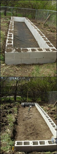 How To Build Raised Garden Bed From Cinder Blocks  http://theownerbuildernetwork.co/p8qd  There's a use for those extra cinder ... pinned with Pinvolve - pinvolve.co