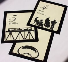 Chicago Table Number Wedding Decor Single by ShannaMicheleDesigns