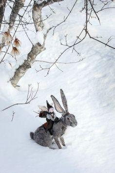 Hare rider - Winter's Children — by Lavender & Lark