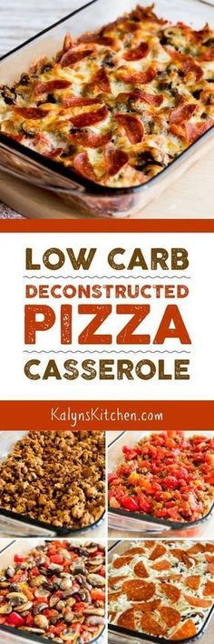 If you're trying to get back on track with carb-conscious eating AND looking for dinner ideas the family will eat, this Low-Carb Deconstructed Pizza Casserole is delicious and it's the perfect low-car (Paleo Casserole Recipes) Healthy Recipes, Ketogenic Recipes, Low Carb Recipes, Diet Recipes, Cooking Recipes, Recipes Dinner, Tilapia Recipes, Tofu Recipes, Pizza Recipes