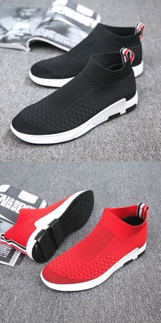Men's Shoes Shoes Contemplative New Mesh Men Casual Shoes Lace-up Summer Woven Outdoor Red Shoes Lightweight Comfortable Sneakers Embossing Breathable Walking
