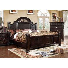 online shopping for Furniture America Vame Traditional Walnut Bedroom Set Eastern King from top store. See new offer for Furniture America Vame Traditional Walnut Bedroom Set Eastern King Bedroom Furniture Sets, Bed Furniture, Bedroom Sets, Brown Furniture, Large Bedroom, Furniture Deals, Master Bedrooms, Online Furniture, Garden Furniture