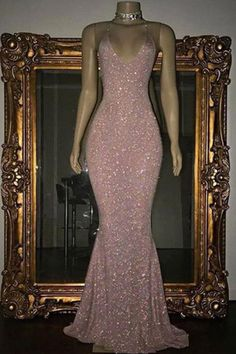 Custom Made Luscious Evening Dress Long Pink Sequin Mermaid Long Prom Dress, Sequin Evening Dress Evening Dress Long, Mermaid Evening Gown, Sequin Evening Dresses, Mermaid Prom Dresses, Pink Mermaid Dress, Pink Sequin Dress, Pink Sparkly Dress, Prom Gowns, Mermaid Sequin