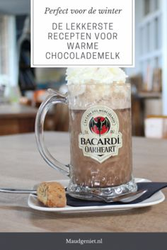 Recepten warme chocolademelk - Maudgeniet.nl Lazy Sunday, Hot Chocolate, Holiday Recipes, Christmas Holidays, Smoothies, Alcohol, Coffee, Drinks, Cooking