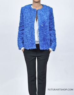 mauro grifoni giubbino pelliccia colore avion - Futurart Shop