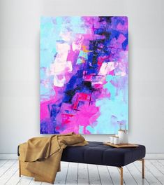 Extra Large Wall Art Original Painting on Canvas Contemporary Wallart Modern Abstract Living Room Wall ArtColorful Abstract Painting Your Paintings, Original Paintings, Original Art, Abstract Paintings, Indian Paintings, Canvas Paintings, Painting Art, Watercolor Painting, Landscape Paintings
