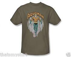 New Authentic Mens DC Comics Aquaman from The Depths Tee Shirt | eBay