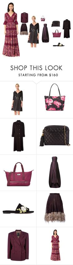 """""""Fashion weekend"""" by emmamegan-5678 ❤ liked on Polyvore featuring Monse, Kate Spade, Chanel, adidas, Elizabeth Kennedy, Rochas, Marco de Vincenzo, Jean-Paul Gaultier, Free People and vintage"""