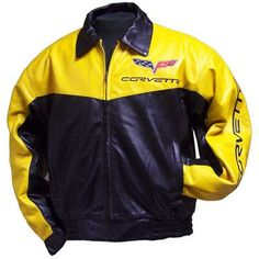 C6 Corvette Elite Yellow Lambskin Bomber Jacket