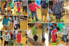 Blote-voetenpad koud, warm, water, zand, kiezelsteentjes, dennentakken Sensory Bins, Sensory Play, School S, Sunday School, Mindfulness For Kids, Just Kidding, Preschool, Teaching, Education