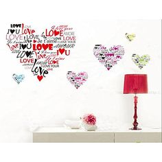 Multinational Languages I Love You Wall Stickers Mural Art Decorative Decals Paper Living Room Decor Paper