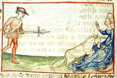 A unicorn, Harley 3448 f.36v, c.1450-1500