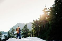 snow capped mountain engagement session. @RyanFlynnPhoto www.ryanflynnphotography.net http://greenweddingshoes.com/adventurous-engagement-shoot-in-the-mountains-kate-adam/pacific