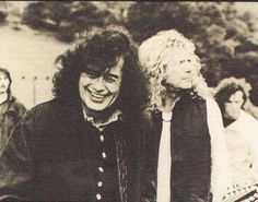 "Jimmy Page & Robert Plant ~ August .""A slate mine, Corris, Wales. Page And Plant, John Paul Jones, John Bonham, Greatest Rock Bands, Jimmy Page, Robert Plant, Led Zeppelin, Hard Rock, How To Memorize Things"