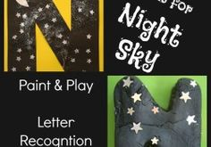 We used night sky playdough and made a letter N craft to help the kids learn to recognise the letter N.