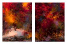 "Saatchi Art Artist Rikka Ayasaki; Painting, ""Dyptich - Passions, Boulogne forest 7016"" #art"