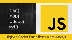 In this video we will look at some of the very powerful higher order functions and working with arrays. We will look at forEach, map, filter, reduce and sort. Javascript Cheat Sheet, Canfield Ohio, Learn Computer Coding, Learn To Code, Science And Technology, Web Development, Sorting, Filters, How To Become