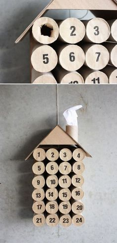 Toilet Paper Roll Crafts - Get creative! These toilet paper roll crafts are a great way to reuse these often forgotten paper products. You can use toilet paper rolls for anything! creative DIY toilet paper roll crafts are fun and easy to make. Advent Calenders, Diy Advent Calendar, Calendar Ideas, 2021 Calendar, Countdown Calendar, Christmas Calendar, Noel Christmas, Christmas Countdown, Homemade Christmas