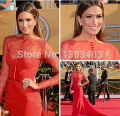 Find More Celebrity-Inspired Dresses Information about Stunning Red Mermaid Steven Khalil Evening Dresses Vestidos with Boat Neck Sheer Long Sleeve Lace Acents Sash Prom Party Dresses,High Quality Celebrity-Inspired Dresses from SOFIA WEDDING DRESS on Aliexpress.com